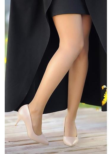 Pembe Potin A11905-17 Kadın Topuklu Ayakkabı A11905-17 Camel